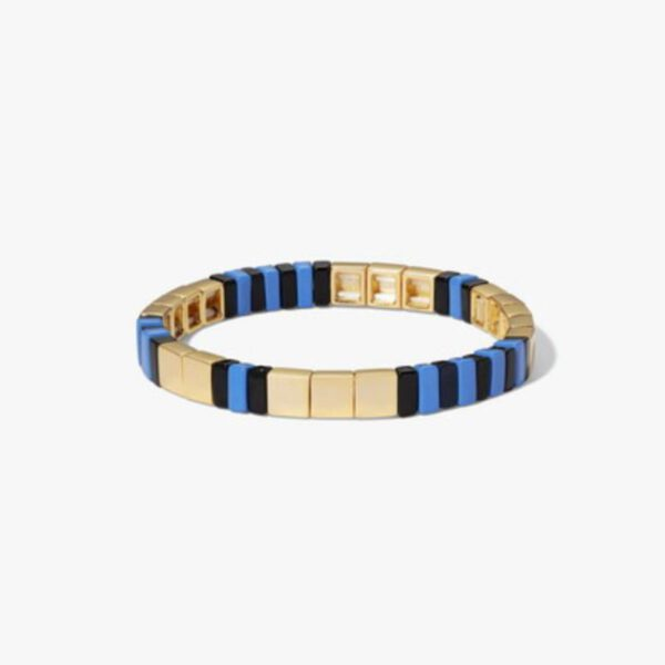 Gold blue and black